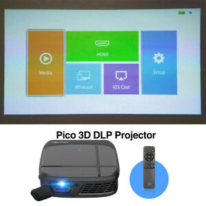 AU Portable WiFi 3D Projector DLP Home Theater Business Meeting HDMI USB HD