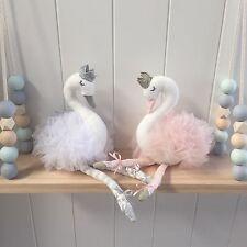 Pink Felt Cygnet Small Swan Nursery Decor Girls Toy Decorator Cushion