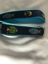 Leather Man Fish Ribbon D- Ring Belt Canvas M Tropical