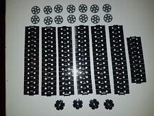 NEW LEGO TECHNIC BLACK CATERPILLAR TRACKS 100x LINKS + DRIVE & GUIDE WHEELS