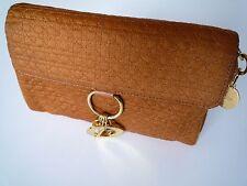 Dior clutch bag orange for women