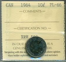 Canada 1964 Silver 10 Cent Certified ICCS PL-66