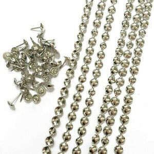 BED SOFA CHAIRS UPHOLSTERY NAILS / TACKS / STUDS SILVER CHROME STRIP  1M - 5M UK