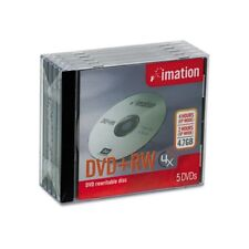 Imation DVD+RW 5 pack (8x/2 hr/4.7GB) Individually wrapped in master pack