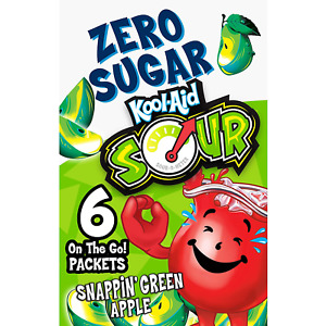 Kool-Aid Zero Sugar Sour Snappin' Green Apple Flavored Drink Mix - 72 packets