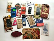 Lot Vintage Sewing Needle Books ~ Variety Hand Needles from 1940s Era on