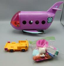 Littlest Pet Shop Purple Blythe Airplane Lot LPS Airport Jet With Dog and Acc...