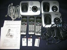 Uniden DECT 6.0 Cordless Answering Machine 3 Handsets Large Button Corded Phone