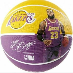 BALLON DE BASKET SPALDING LOS ANGELES LAKERS LEBRON JAMES 23 NBA TAILLE 7 NEUF