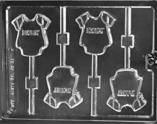 B A B Y ONE PIECE CHOCOLATE CANDY MOLD DIY BABY SHOWER PARTY FAVORS 4 CAV