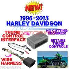 96-2013 HARLEY TOURING RADIO INSTALL ADAPTER WITH THUMB CONTROL INTERFACE STEREO
