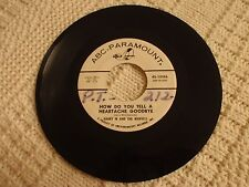 HARRY M & THE MARVELLS  HOW DO YOU TELL A HEARTACHE GOODBYE/DESERVE TO CRY ABC