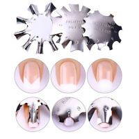 3x French Smile Line Cutter Nail art Manicure Edge Trimmer Nail Acrylic Tools