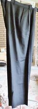 Woman's KGR 100% Worsted Wool Black Slacks Pleated Front Size 10