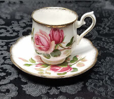 "VINTAGE 1950s Royal Albert ""Anniversary Rose"" Demitasse Cup & Saucer China Set"