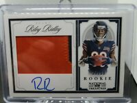 2019 National Treasures Riley Ridley Rookie Jersey Auto RPA #/99 Chicago Bears