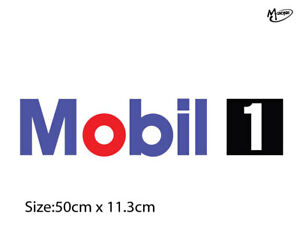 MOBIL 1 ONE Reflective Sticker  Decal Blue Sticker 50cm Best Gifts-