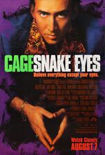 Snake Eyes Movie Poster 2 Sided Original Final 27x40 Nicolas Cage Brian De Palma