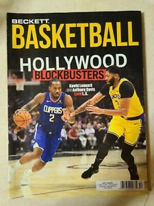 Beckett Basketball December 2019 Kawhi Leonard, Anthony Davis Los Angeles