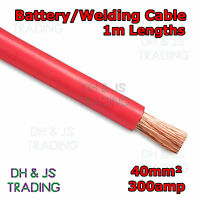 1m Red Battery Welding Cable 40mm² 300a - Flexible Marine Boat Automotive Wire