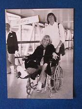"Original Press Photo - 9.5""x7"" - Susan George - 1980 - In wheelchair"
