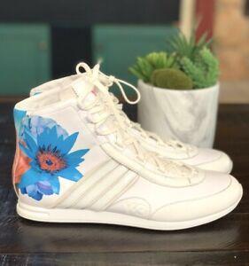 NWOB ADIDAS X Y-3 Yohji Yamamoto Sz US 9 Floral High Top Sneakers White NEW HTF
