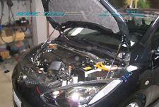 07-14 Mazda2 Mazda 2 DE Hatchback Black Strut Hood Shock Lift Damper Kit