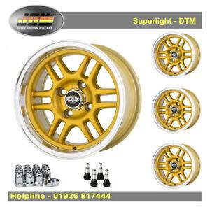 7x 13 Superlight DTM Wheels Classic Mini 1959-2001 Set of 4 Gold