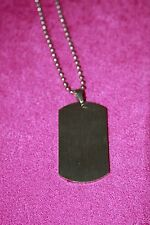 H&M dog tag necklace