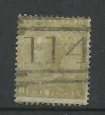 1865/7 Sg 98, 9d Straw (NK) Plate 4, Good used.