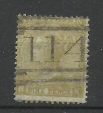 1865/7 SG 98, 9 D PAGLIA (NK) PIASTRA 4, BUON USATO.
