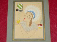 [Art Deco] Yan Bernard Dyl / Regions aus Frankreich Champagner Ca. 1930 Pochoir