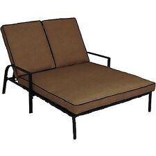 Outdoor Patio Furniture Pool Recliner Double Sofa Chaise Lounge Chair w/ Cushion