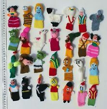 Lot 10 Finger Puppets Hand Knit Wool Animals Crafts Peruvian Folk Art Baby Dolls