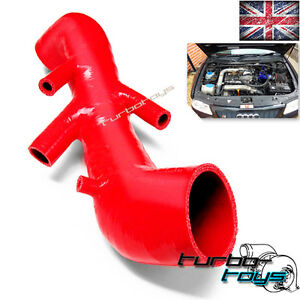 UK AUDI TT S3 SEAT LEON CUPRA R 1.8T 20V fit SILICONE INDUCTION INTAKE HOSE RED