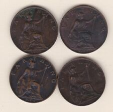 More details for four 1902/1903/1906 & 1909 edward vii farthings in extremely fine condition