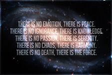 The Jedi Code Galaxy Motivational Art Print Poster 18x12