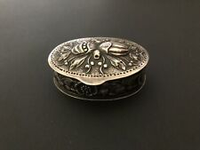 VINTAGE STERLING SILVER SNUFF BOX OR PILL BOX MADE IN SWEDEN AND SIGNED