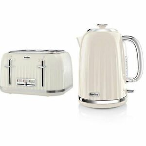 Breville Impressions Kettle and Toaster Set Cheap Sale Clearance Deal Cream