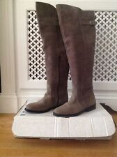 BNWT La Redoute real leather suede grey over-the-knee boots, UK 9