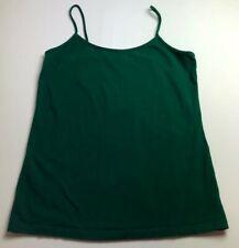 No Boundaries Women's Basic Cami Tank Top Junior's XXL 19 Solid Green Pullover