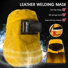 Welding Helmet Mask Face Leather Welder Hood Darkening Filter Len Anti Uv Color