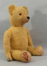 Antique Early 20thC Jointed, Short Mohair, Straw Filled Growler Teddy Bear, Nr