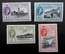 SIERRA LEONA 1956 ISSUES NH**  A BULLOM BOAT/ CAPE LIGHTHOUSE (SL2)