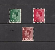 Great Britain 1936 Eviii ½d 1d & 1½d All Umm with Watermark Inverted