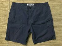 Nautica Adult Mens 40 Cargo Shorts Blue Cotton