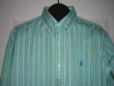 NWT RALPH LAUREN * L * Classic Fit * Green / Yellow Long Sleeve Cotton Shirt