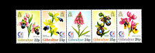 Orchids strip of 5 mnh stamps 1995 Gibraltar #685 flowers