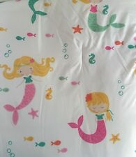 Boat House Mermaid 3 Pc Twin Comforter Set Pillow Pink Green Girl Kids Children