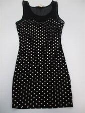 new FOREVER 21 #DR801 Womens S Illusion Sweetheart Polka Dot Black Bodycon Dress